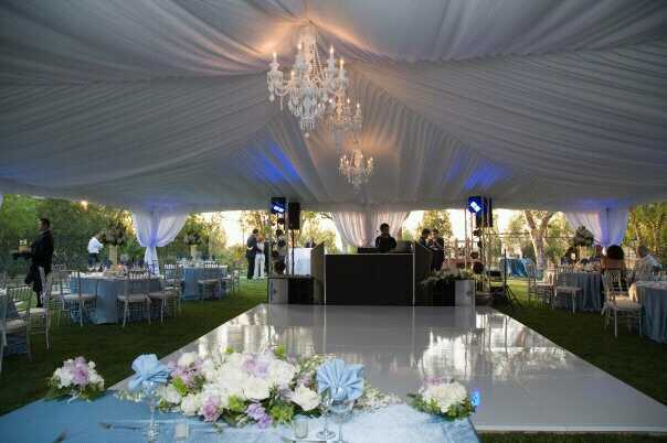 Tented Wedding Reception in Santa Clarita