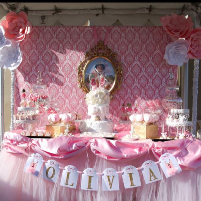 A-1 Event Rentals Pink Dessert Bar
