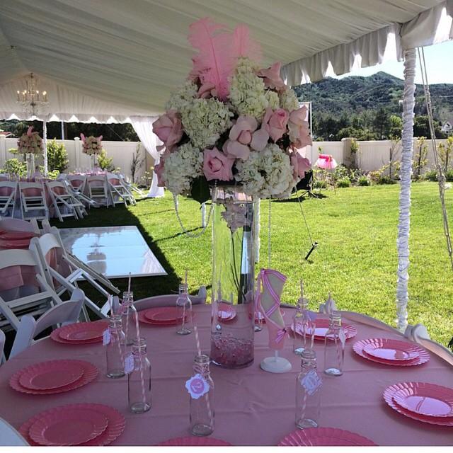 A-1 Event Rentals Pink Flower Arrangement