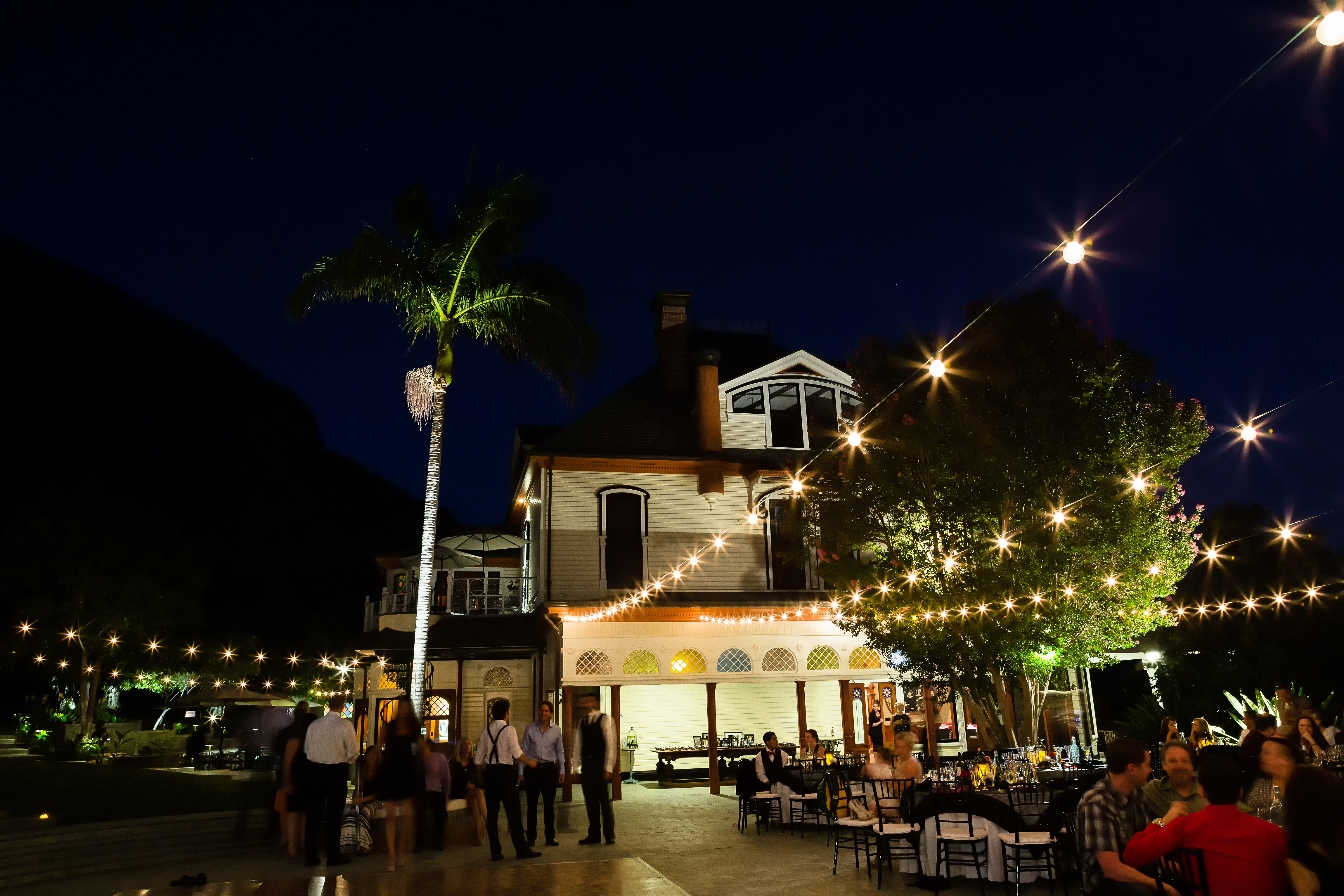 Newhall Mansion Market Lights