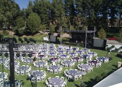 Fundraiser event rentals