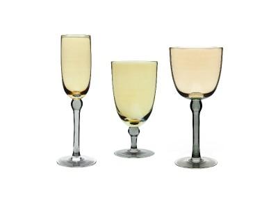 gold glassware rental