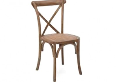 Natural Wood Vineyard Cross Back Chair