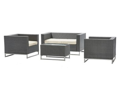 Outdoor Patio Set Grey