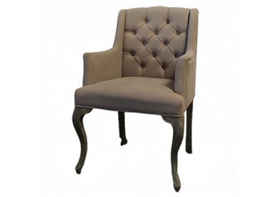 Ivory Tufted Chair
