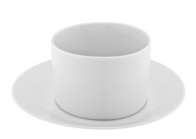 Royal White Cup and Saucer