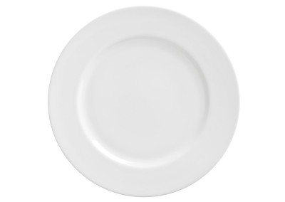 Royal White Salad and Dessert Plate