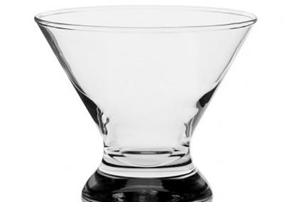 stemless Martini glass rental
