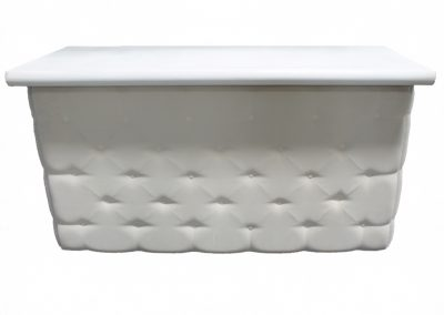 Elite Tufted Bar in White