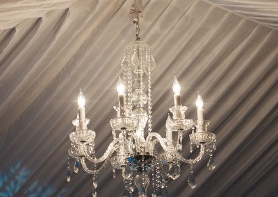 Chandelier rental wedding