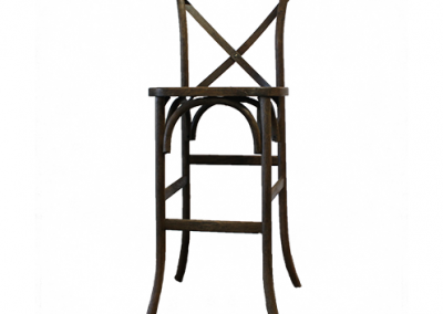 Natural Wood Vineyard Bar Chair