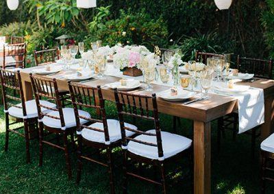 "Vineyard Natural 8'x48"" Dinner Table"