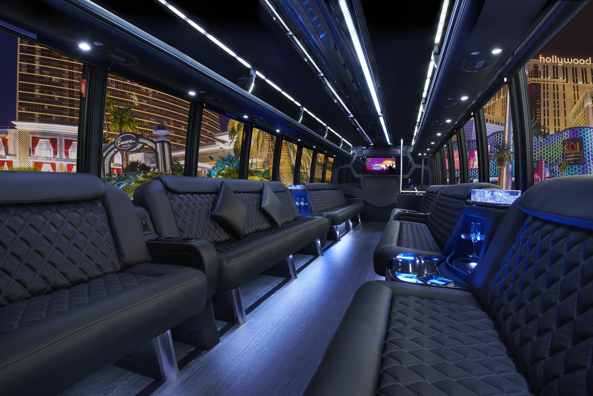 Product Showcase 23 Passenger Luxury Party Bus 24 7 Events