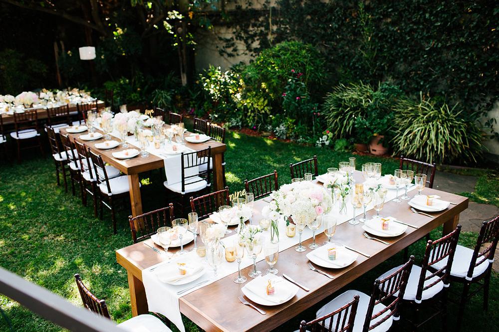 Wood Table Wedding