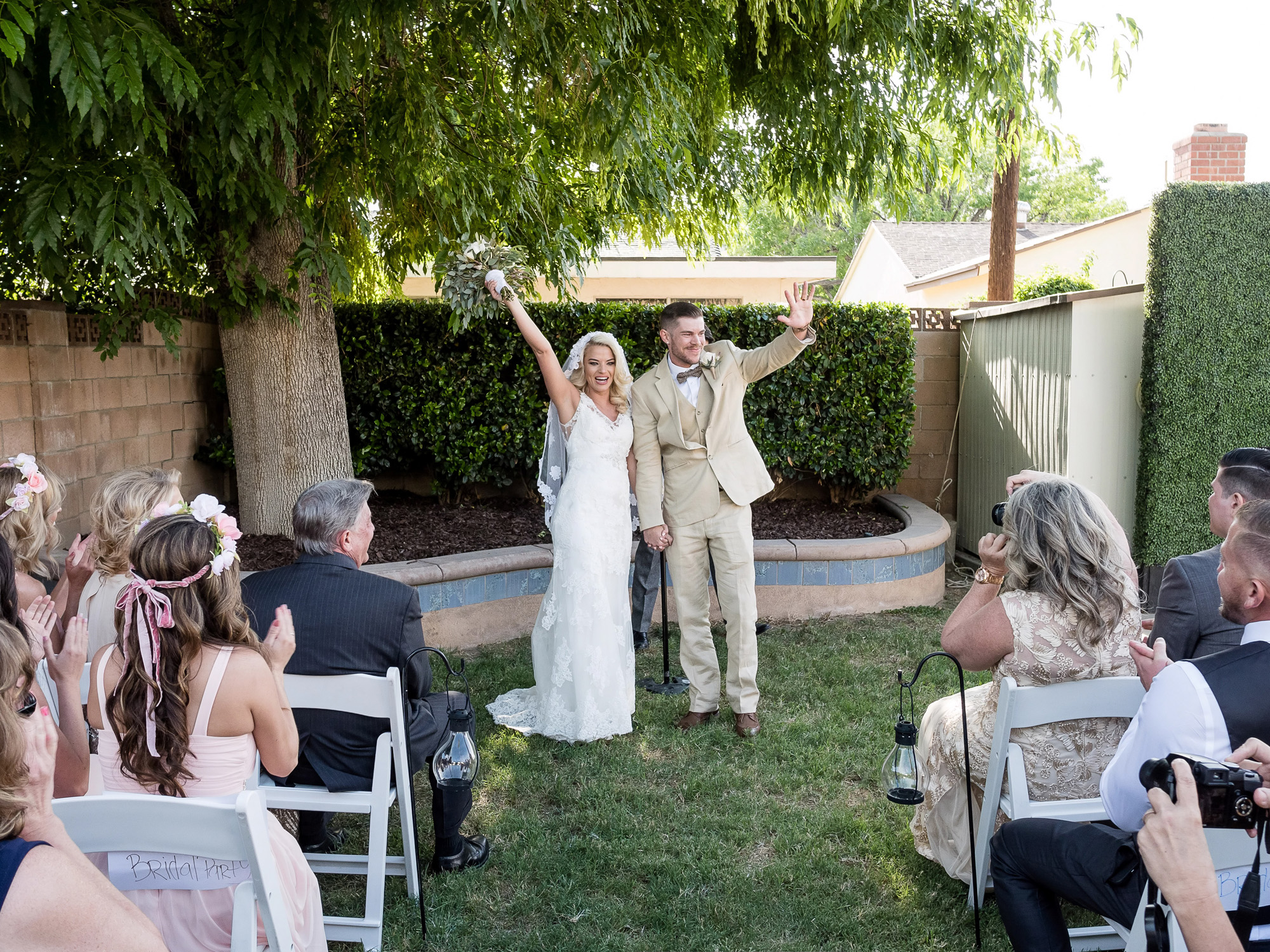 Backyard Wedding Guest Book Ceremony