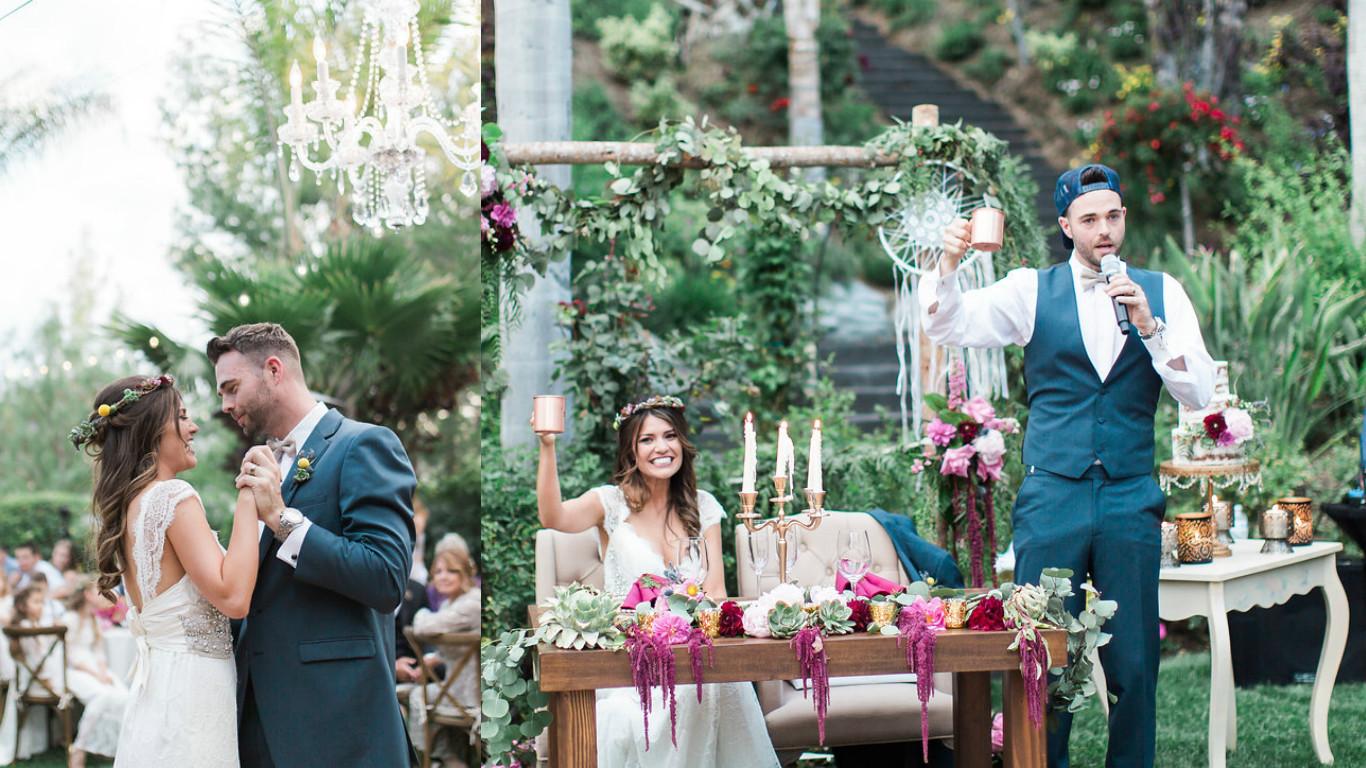Event feature a chic boho wedding 247 events boho wedding couple junglespirit Choice Image