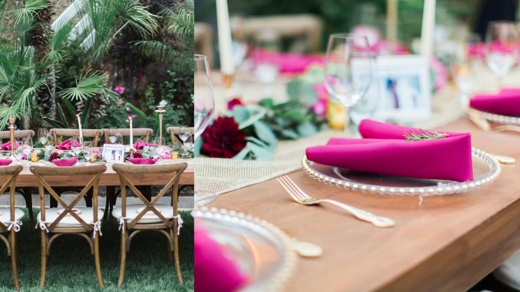 Boho wedding table decor