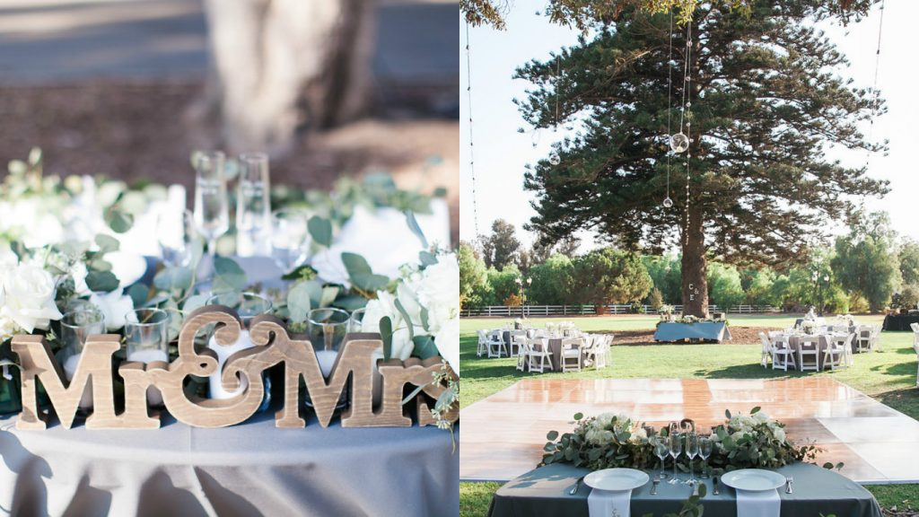 Camarillo Ranch Wedding Sweetheart Table