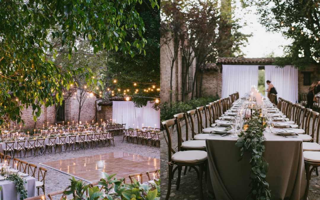 Wedding Rentals for an Elegant Wedding with European Flair
