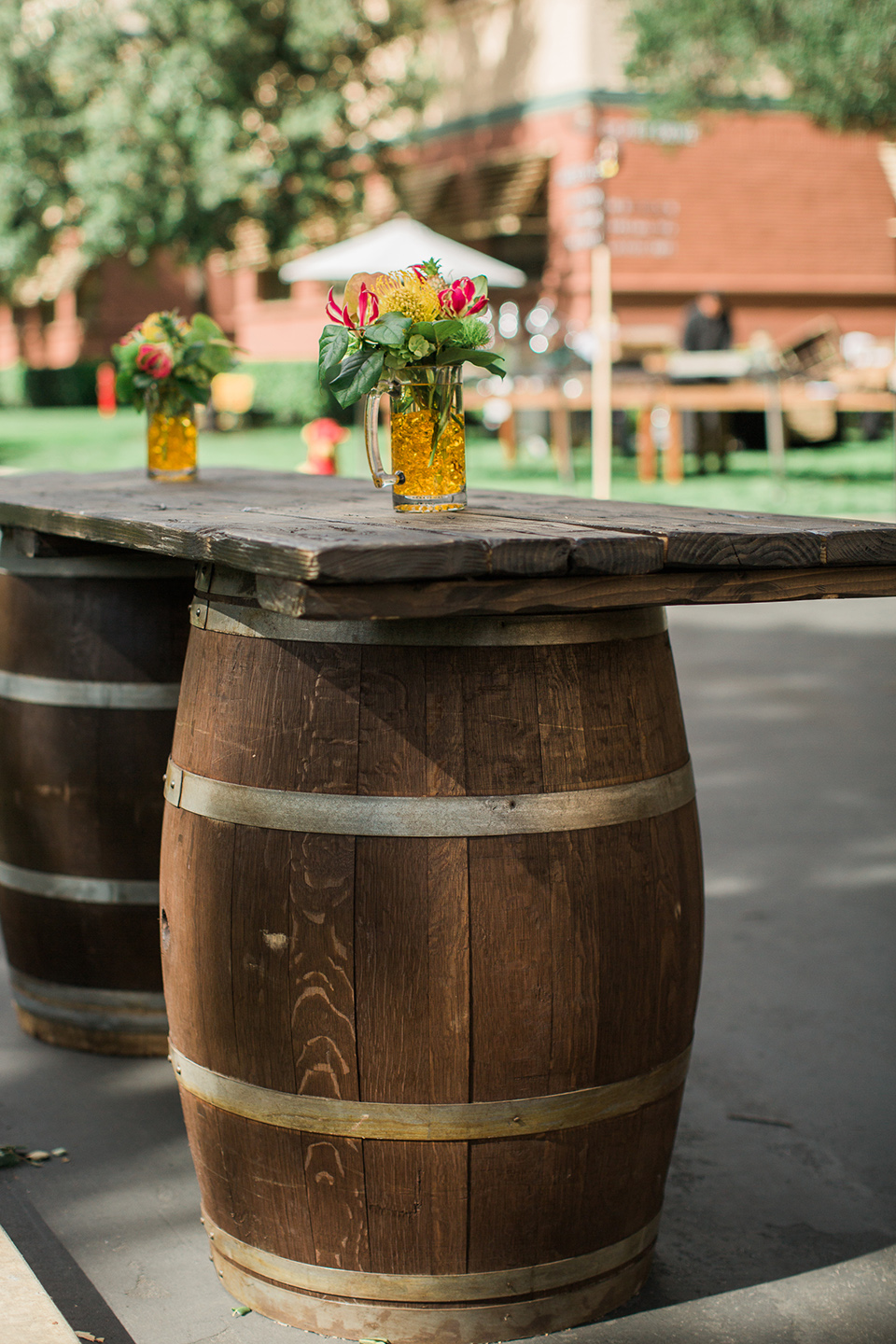 Tropical Theme wine barrels