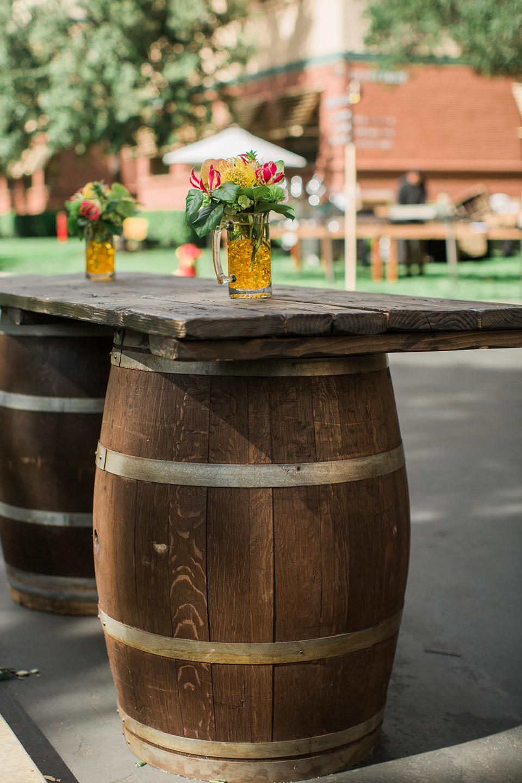 Tropical Theme wine barrels