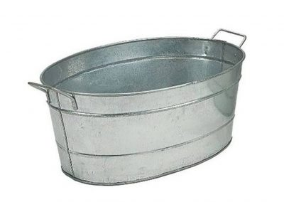Chill Tub Oval Galvanized Steel