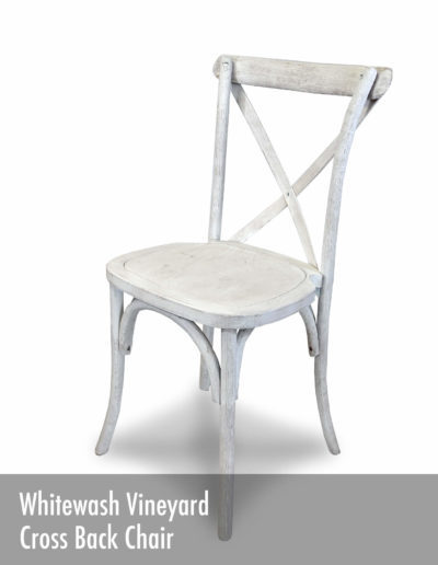 Whitewash Vineyard Cross Back Chair